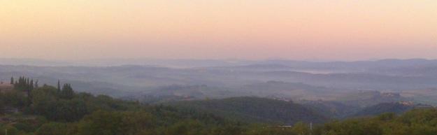 Stamani, all'alba, nel Chiantishire