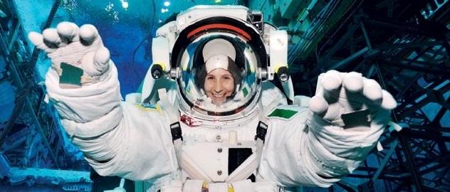 Morbida astronauti CASCO Costume nello spazio space Berretto Bianco Argento spaziale conducente
